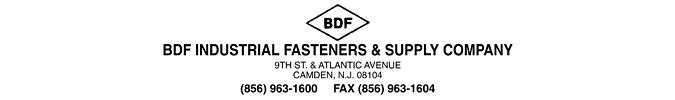 BDF Industrial Fasteners